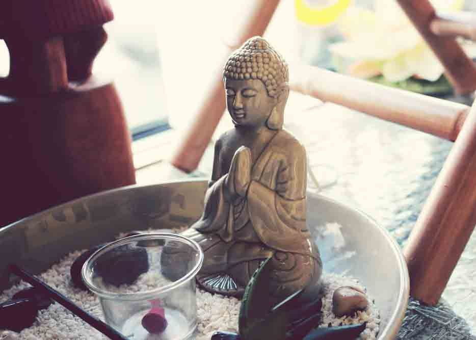 where to keep buddha statue in the house praying