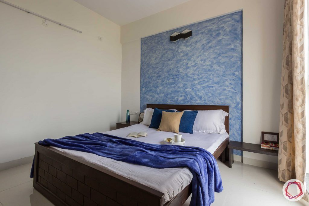 bachelor pad interior design blue bedroom