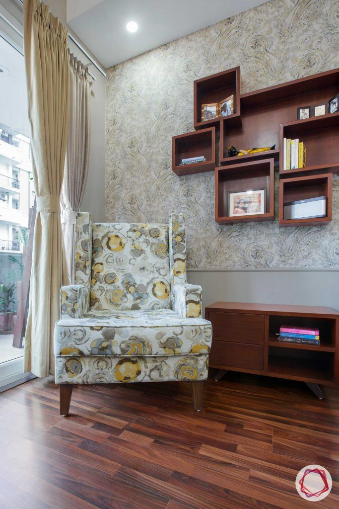 Prateek Stylome-accent chair designs-wooden shelves designs
