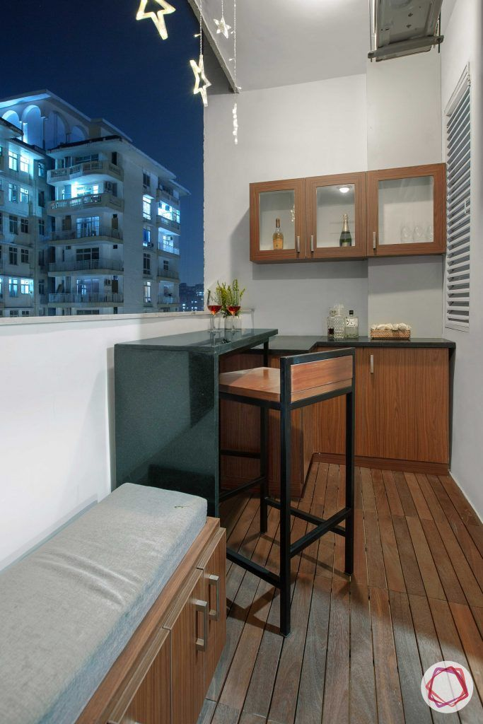 Prateek Stylome-bar counter balcony-wooden flooring designs