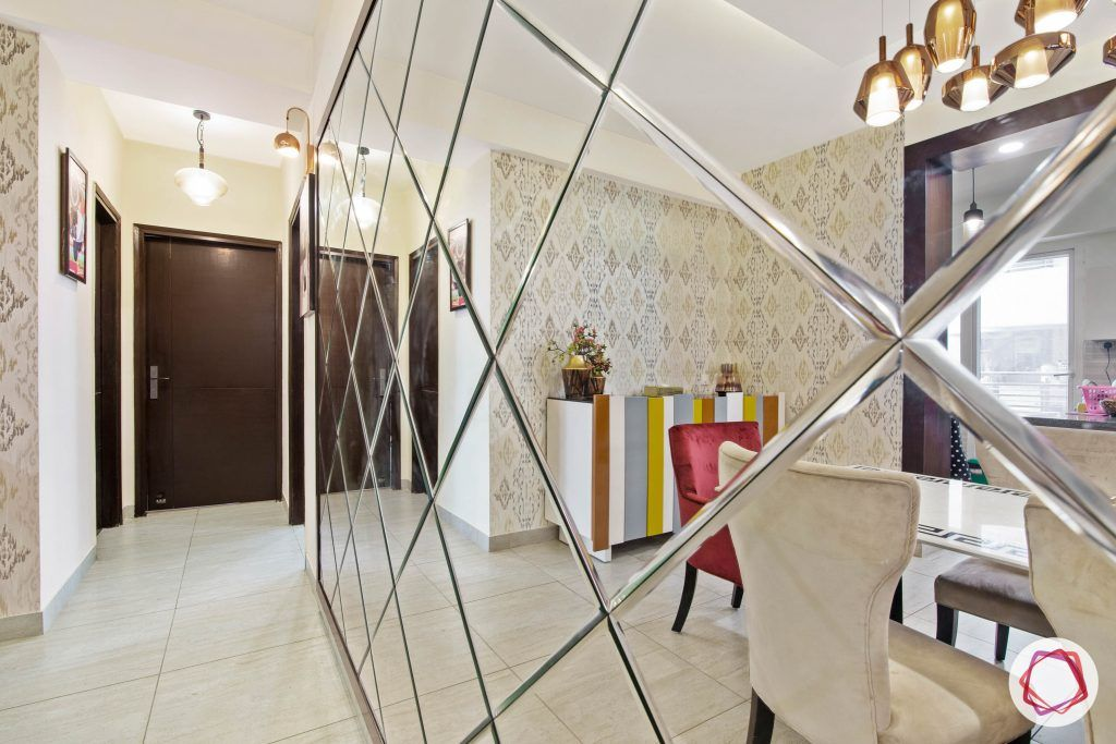 beautiful home design dining room mirror panel