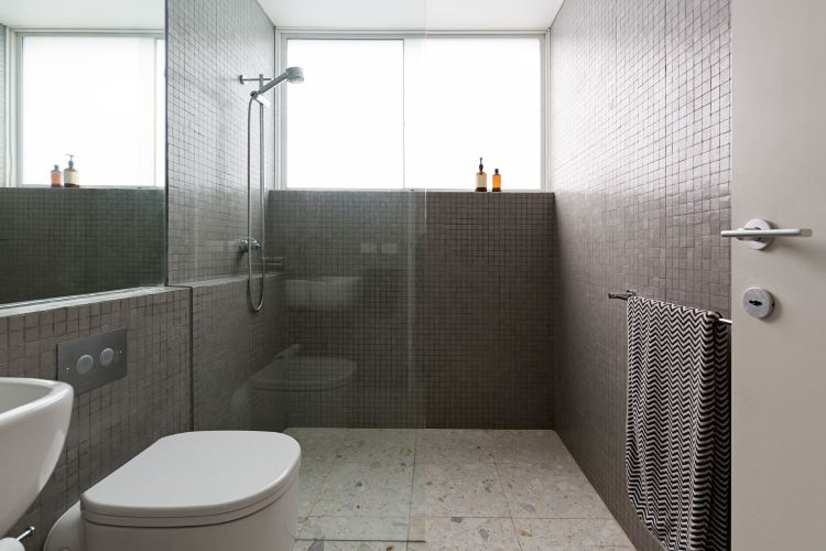 Terrazzo flooring-bathroom-shower-cubicle