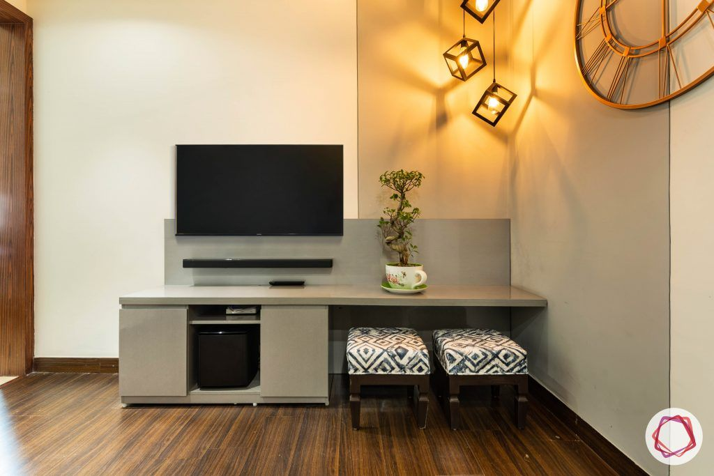 duplex house design TV unit