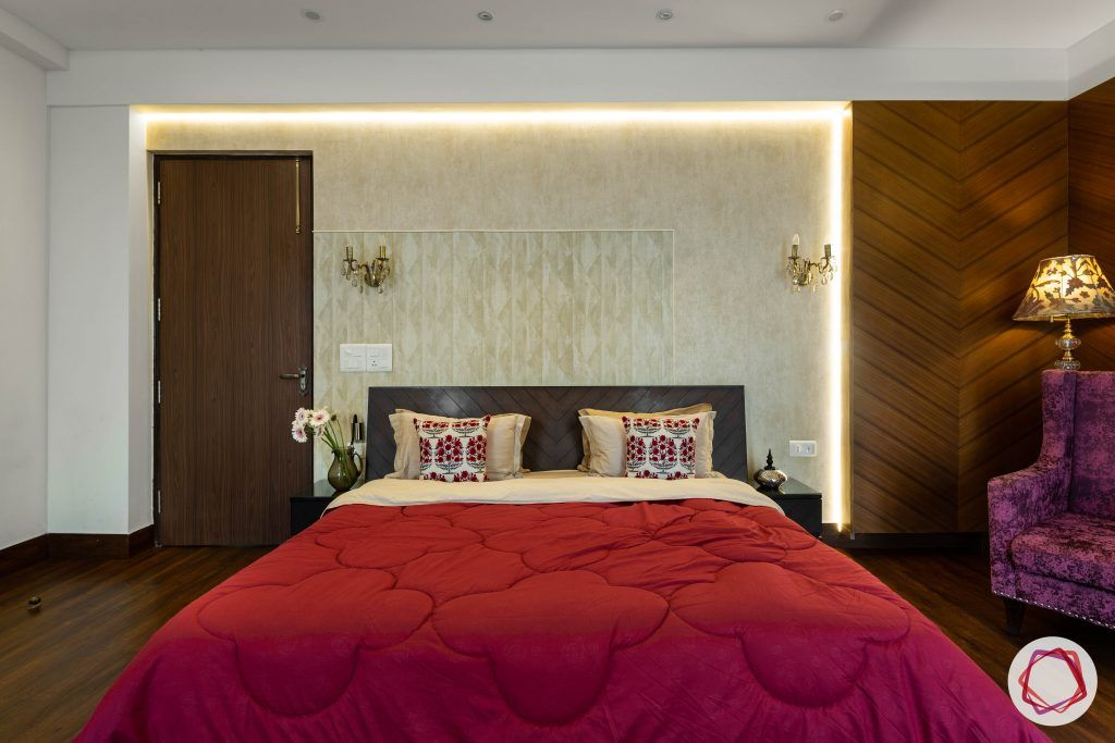 duplex house design pink bedroom