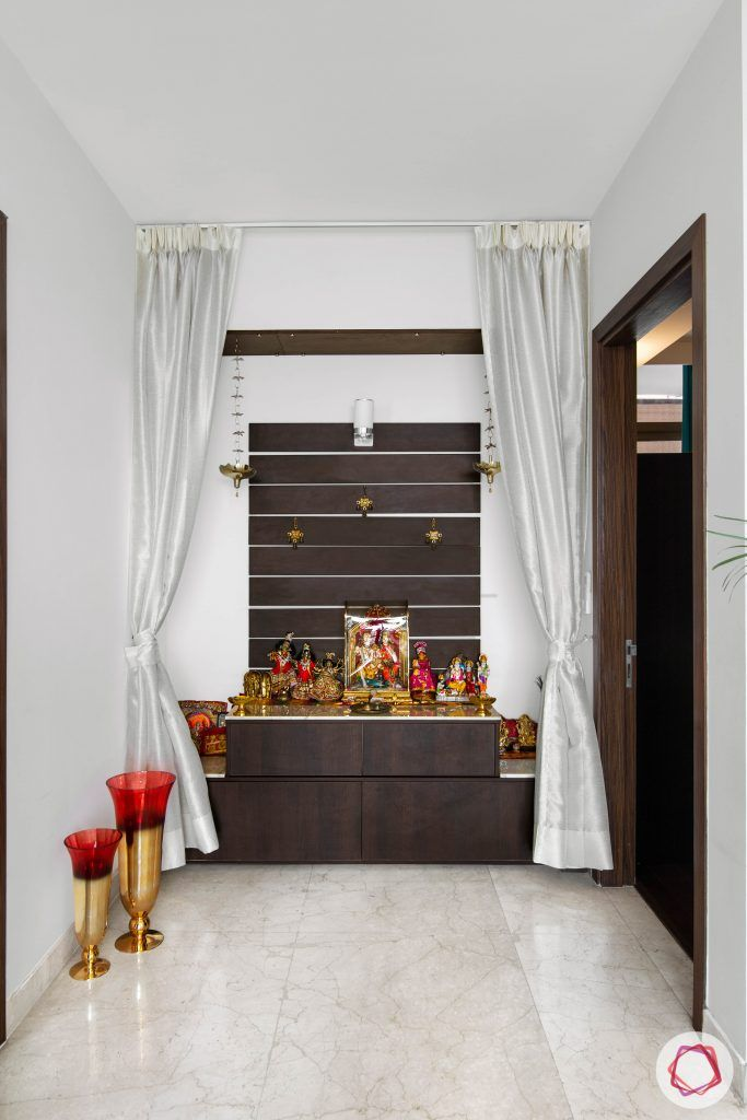 Pooja-Room-Design-Wooden-Wall-Panel-Open-Style-Front-View