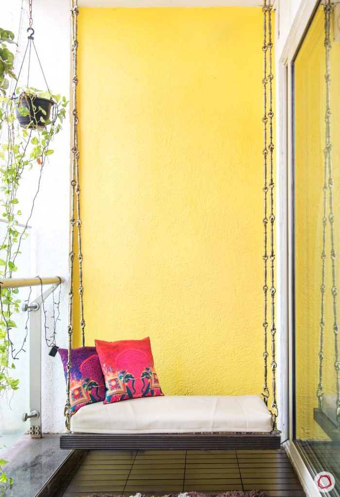 small space interior design-swing designs-seating for balcony-wall colours for balcony