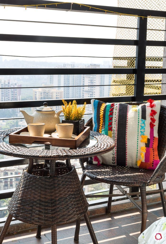 small space interior design-balcony seating ideas-small balcony seating