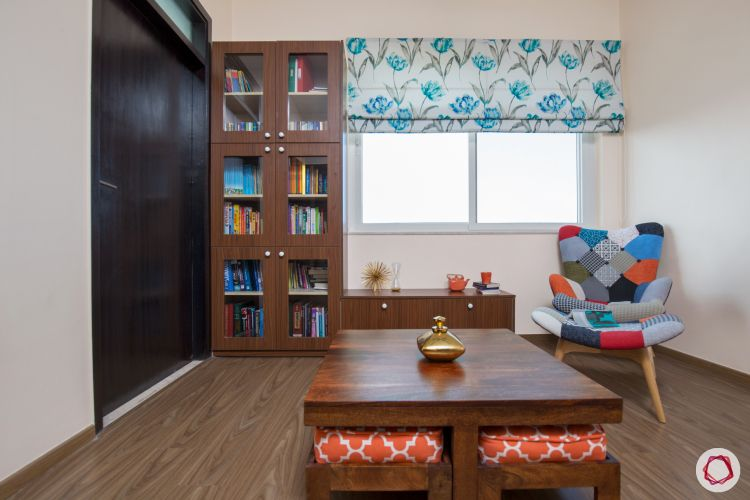 small space interior design-nested coffee table-bookshelf designs-hobby room ideas-reading chair-coffee table designs
