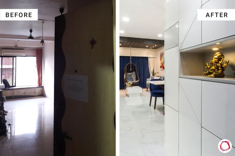 house-renovation-foyer-before-after-shoe-cabinet-white-tiles-storage