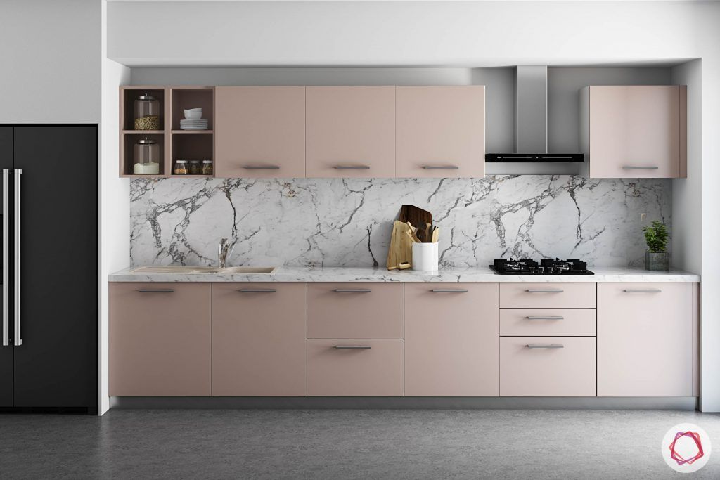wall-tiles-design-laminam-backsplash-pink-cabinets-fridge-modern