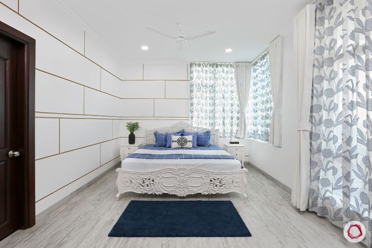 minimalism-white wall ideas-white wall paint ideas-carved bed designs-white room decor ideas