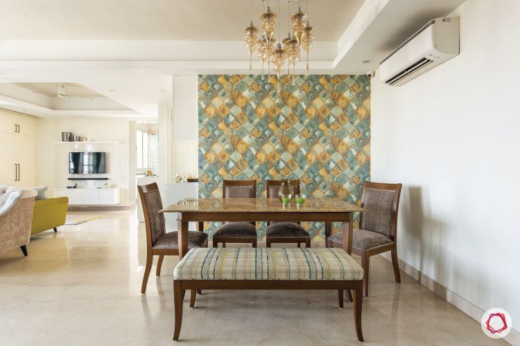 flat-in-faridabad-dining-nook-living-wooden-table-chairs-quartz-bench-cushioned