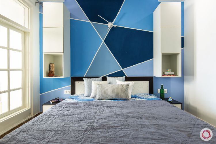 flat-in-faridabad-kids-bedroom-blue-wall-white-cabients-window