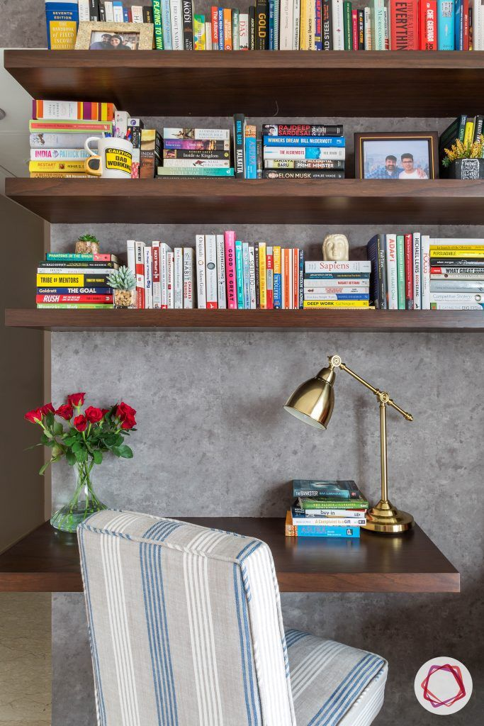 lodha group-grey wallpaper designs-working table for bedroom
