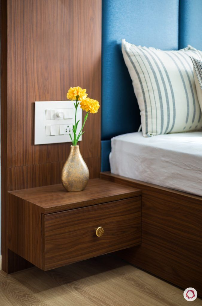 best interior designers in mumbai-parents room-side table-laminate finish