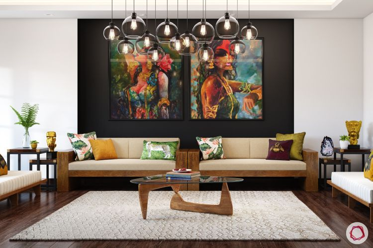 twinkle khanna interior-glass chandelier designs-modern art for home