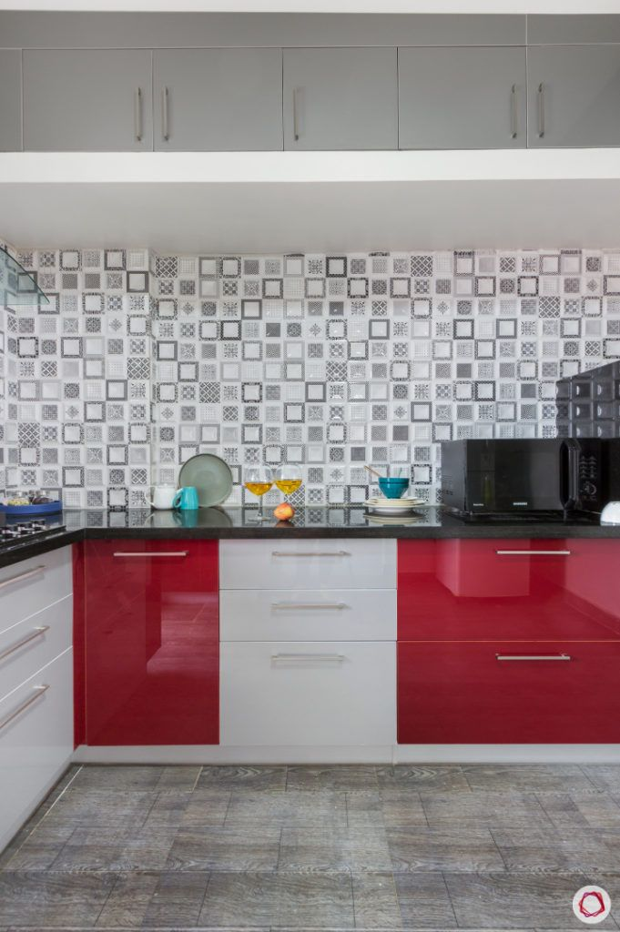 home bangalore-modular kitchen-red and white kitchen-acrylic cabinets