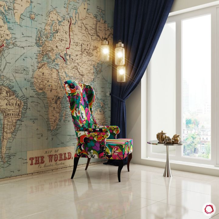 celebrity-homes-travel-inspired-room-accent-chair-world-map-wall-light-window