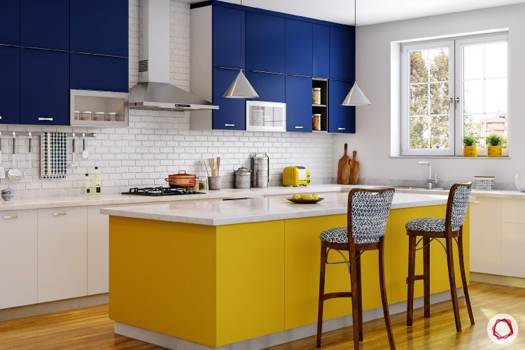 colour schemes for your kitchen-blue kitchen designs-yellow kitchen designs
