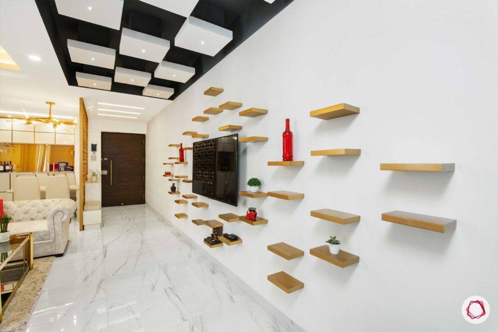 tdi ourania_living room_display shelves_floating false ceiling