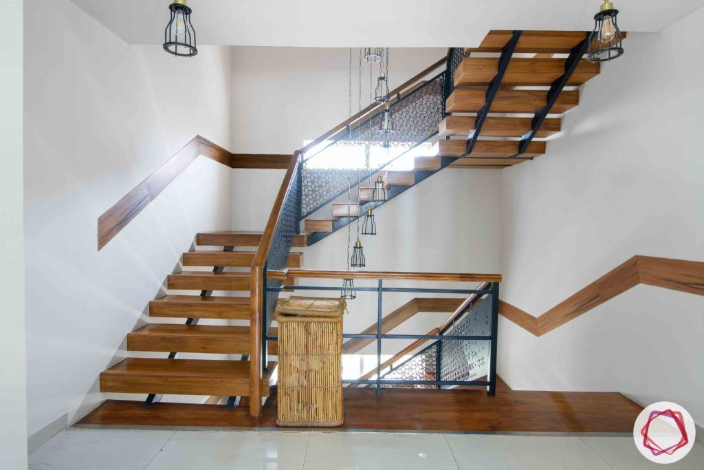 wooden-stairs-lights-white-flooring