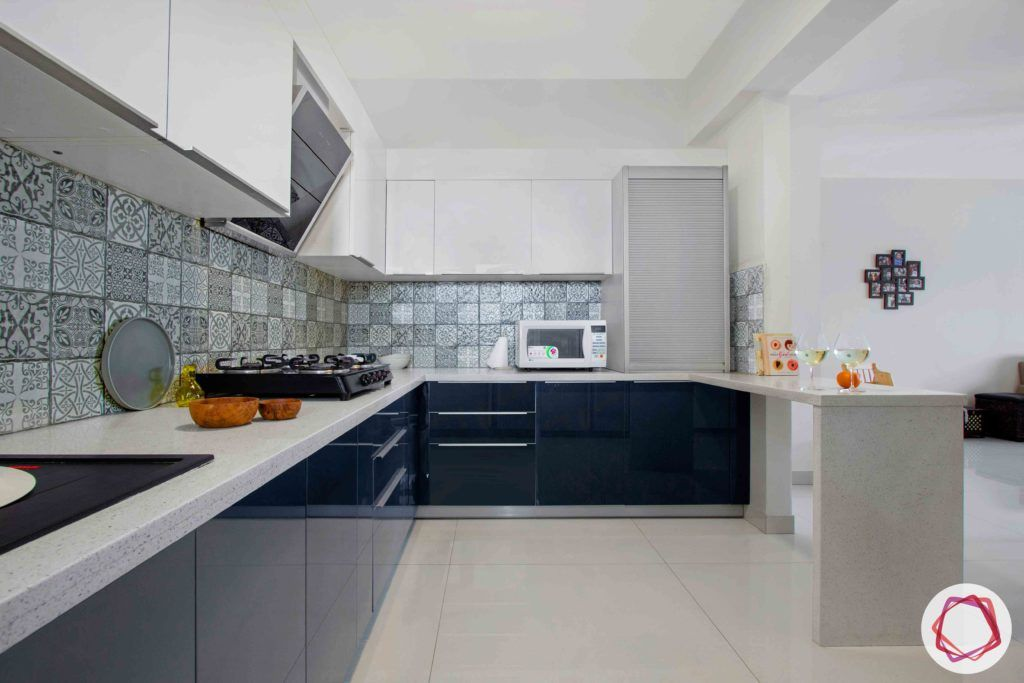 dnr atmosphere-two toned kitchen design-grey and white kitchen-white countertop designs
