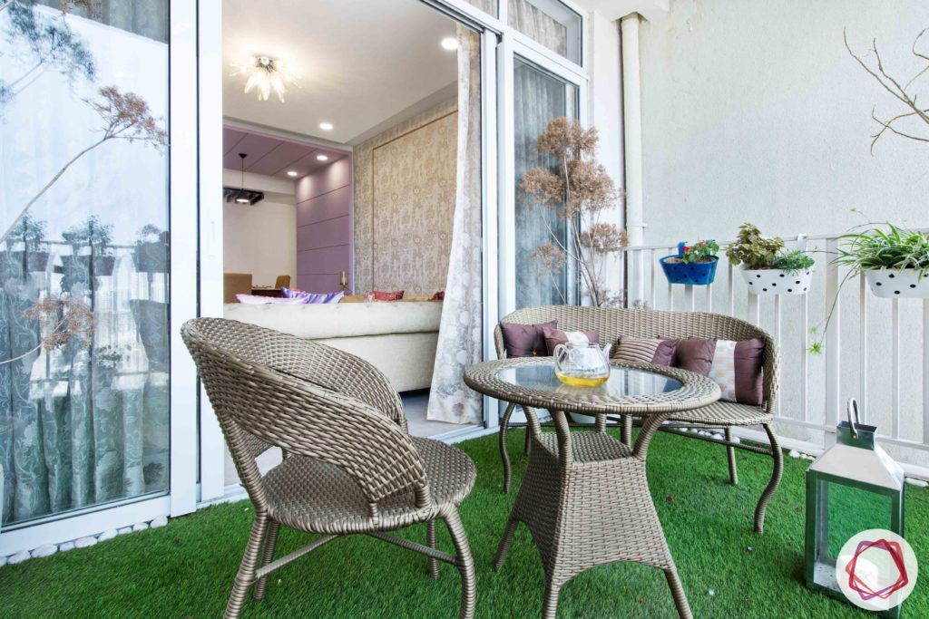 ireo victory valley-balcony seating-cane furniture-artificial turf