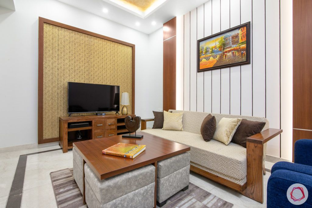indian living room-coffee table designs-sofa cum bed