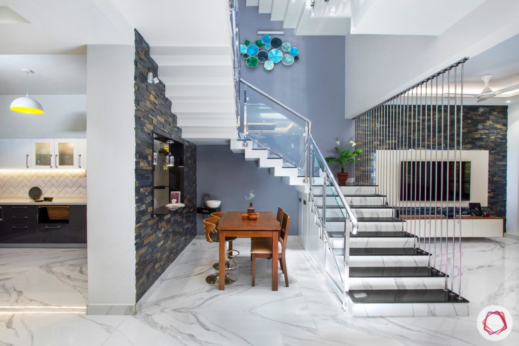 duplex house design-open kitchen designs-staircase designs