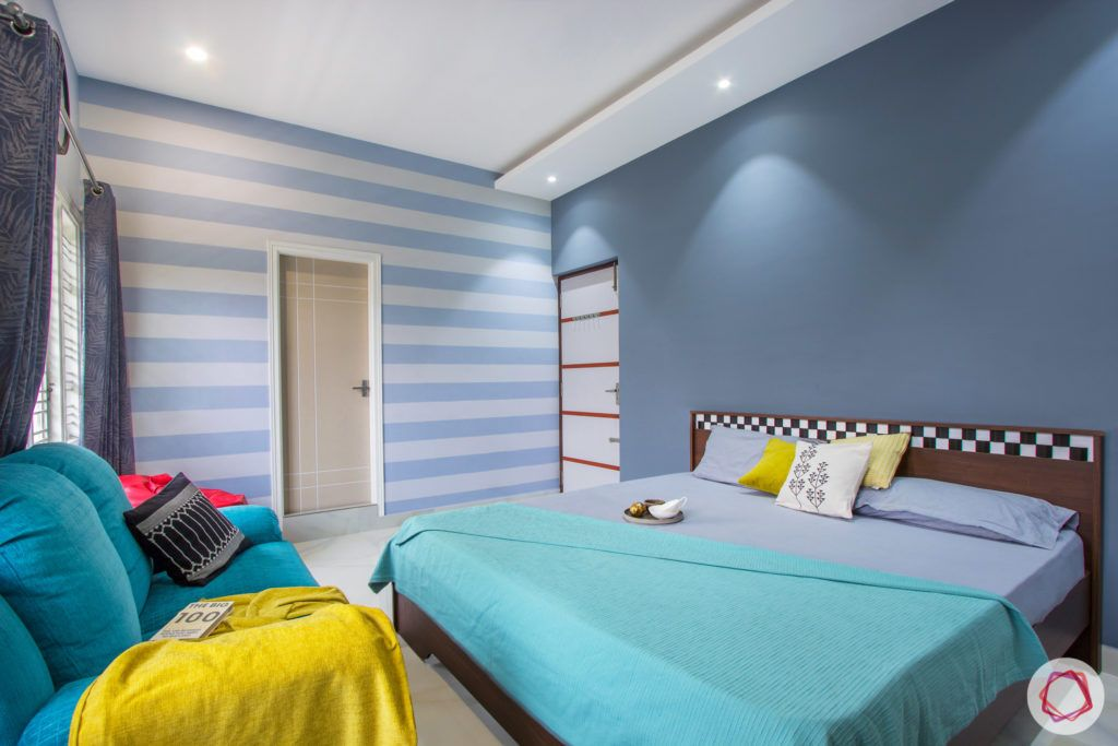 duplex house design-blue wall ideas-blue accent wall designs