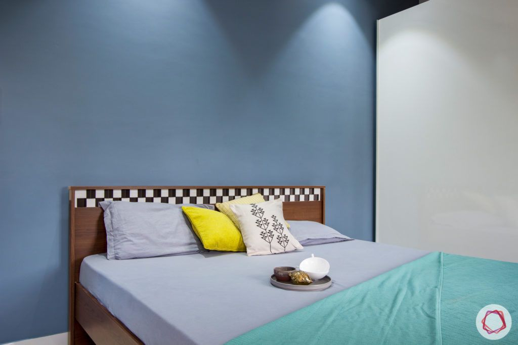 duplex house design-blue wall designs-blue wallpaper designs