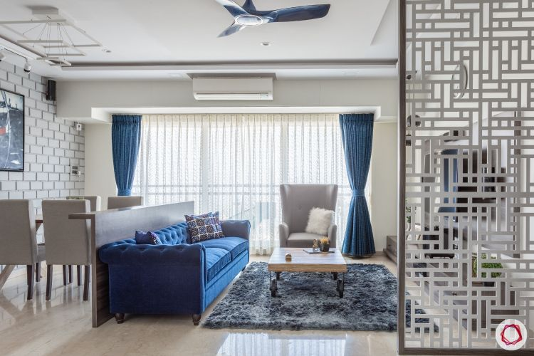 jali design-divider-lattice screen-living room-jali screen