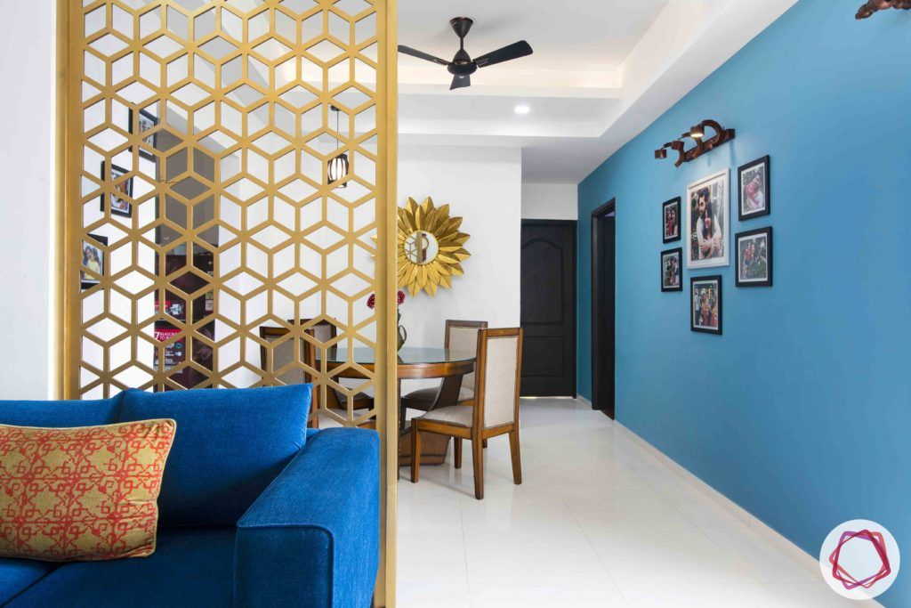 jali design-divider-hexagon pattern-golden jali