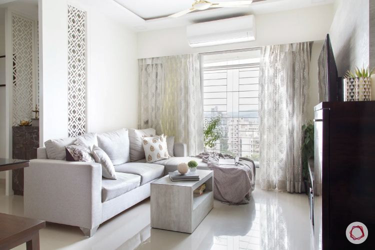 jali design-pooja room-jali panels-wall-white walls