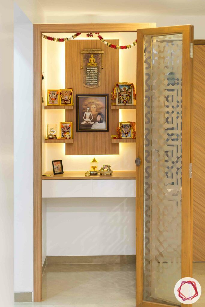 Pooja Room Door Design Photos Pictures: 5 Soothing Wooden Pooja Room Designs