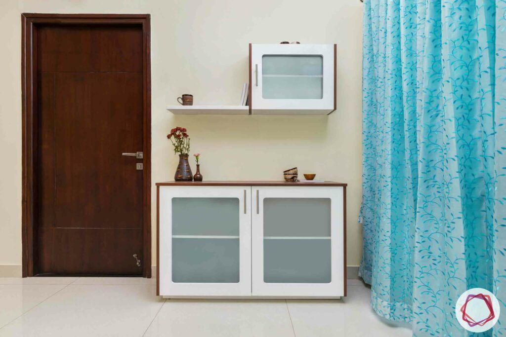 crockery unit designs-blue curtain designs