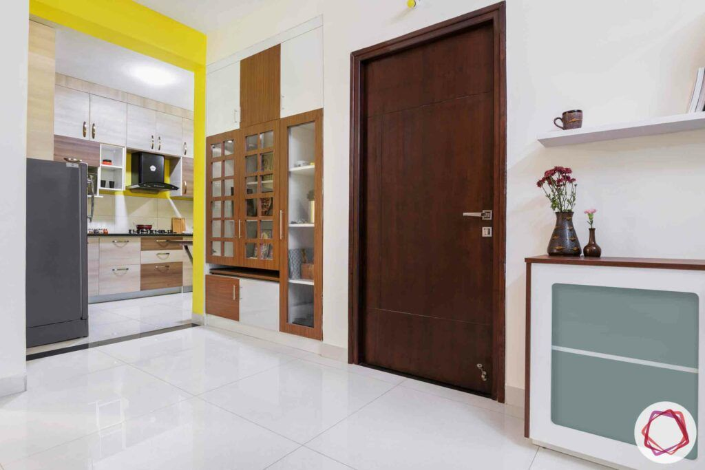 pooja unit designs-white flooring designs