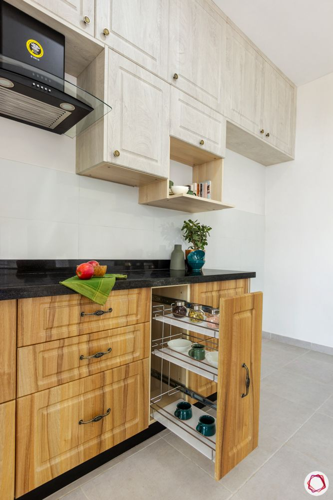 modular kitchen interior designers in bangalore-tandem drawers-wooden cabinet