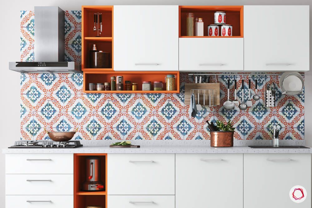 kitchen cupboard designs-orange kitchen