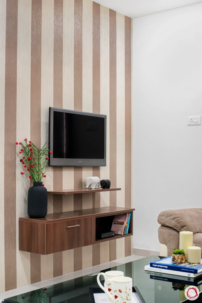 brown wallpaper designs-entertainment unit designs