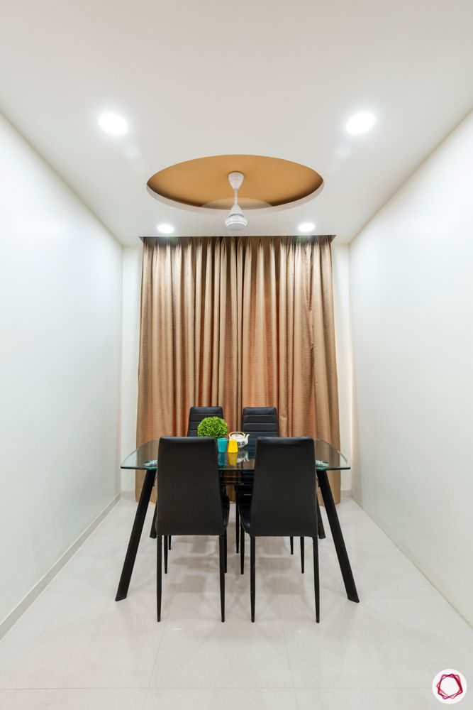 small dining set designs-round false ceiling idea