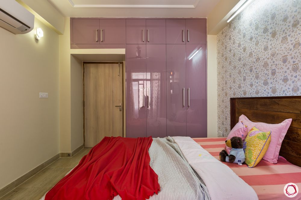 best interior designer in noida-kids room-lilac wardrobe