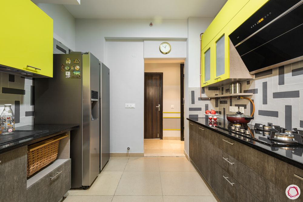 paras irene-yellow and brown cabinets