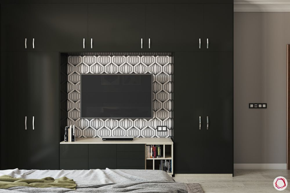 built-in-wardrobe-designs-black-swing-door-wardrobe