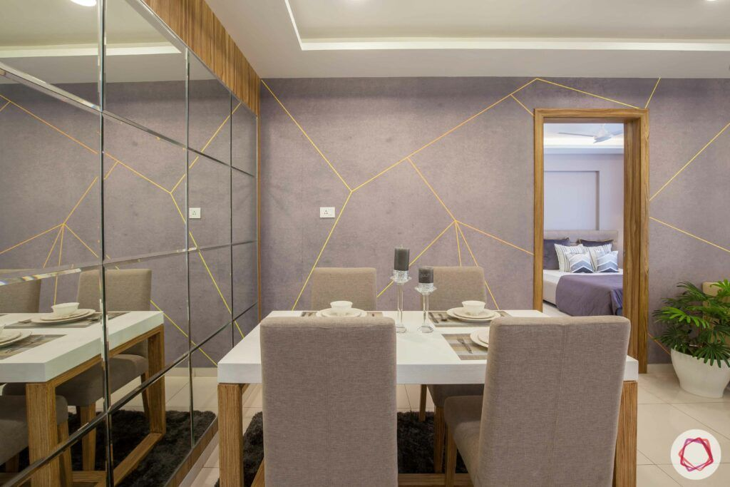 2bhk pune-grey chairs-dining table designs