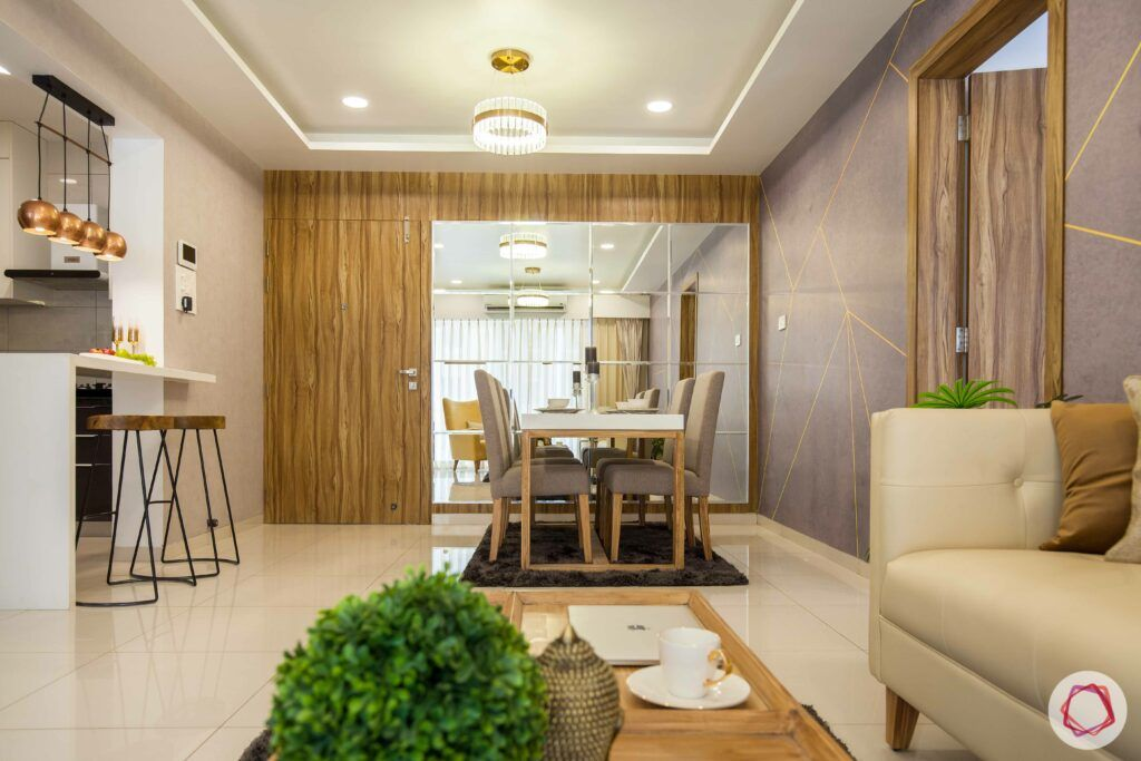 2bhk pune-indoor plant-mirror wall