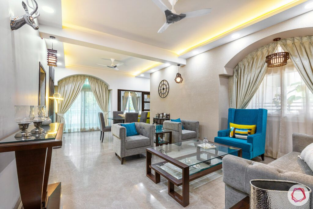 house-renovation-living-room-sofas-curtain-false-ceiling-blue-grey