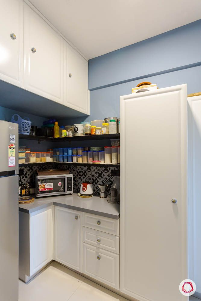 new kitchen on a budget-open pantry designs