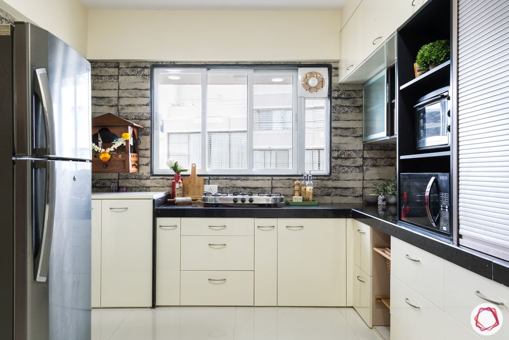 modern kitchen design-mandir-champagne kitchen-storage