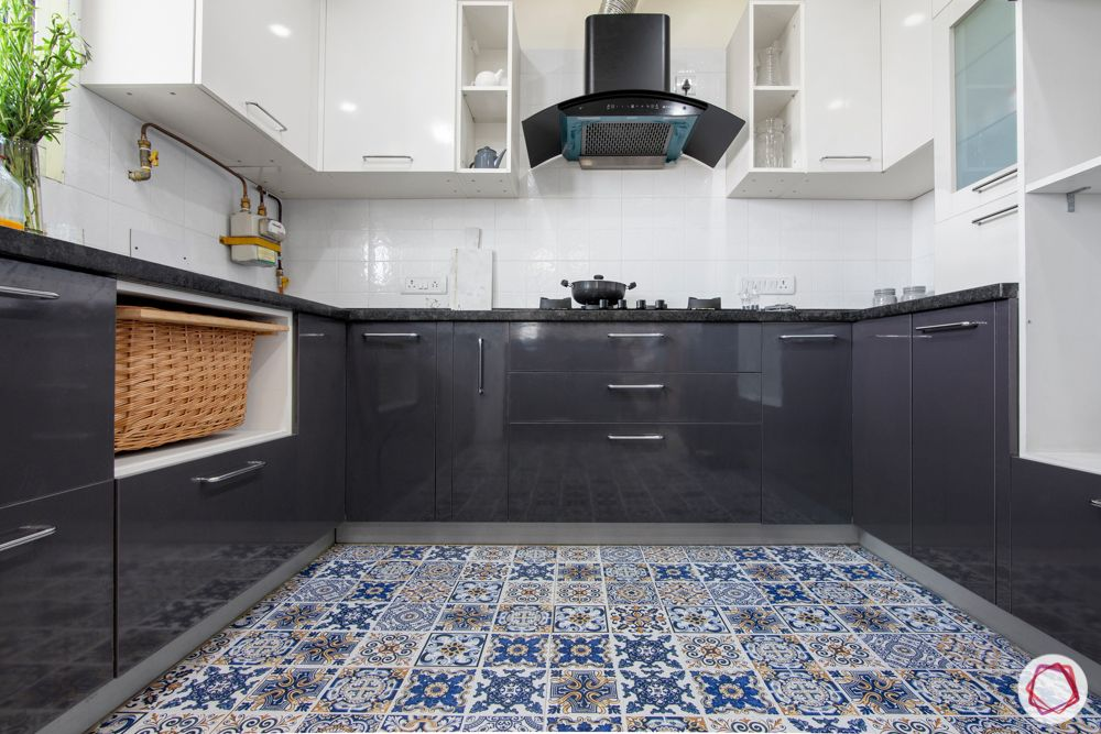 types-of-flooring-ceramic-tiles-patterned-grey-kitchen